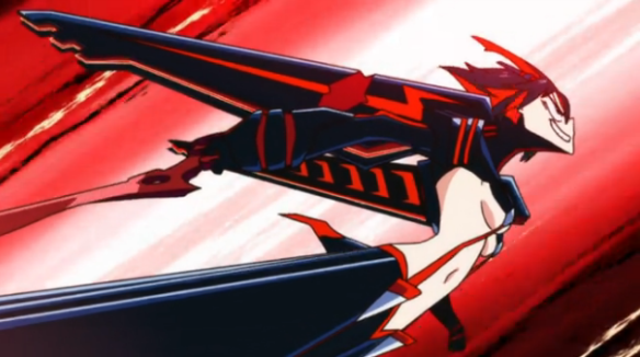 KLK Flying Through The Sky in a rocket dress fuck this show is amazing love love love