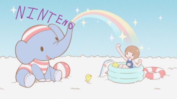 N0KLK Cute fun happy times with an elephant and bath swim time joy adorable