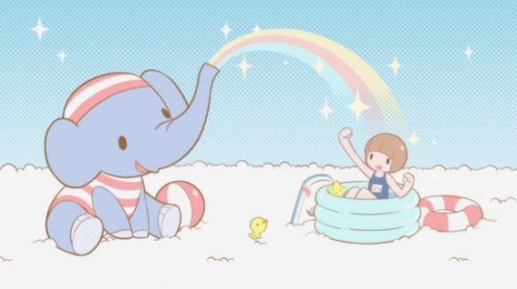 KLK Cute fun happy times with an elephant and bath swim time joy adorable