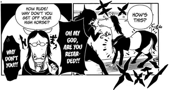 Hitomi Horse Rude Nonsense Retarded Random